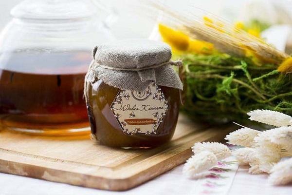 자연 갈색 꿀